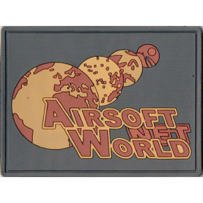 Airsoft World™ Morale Patch - Desert Night w/Velcro on PVC rubber