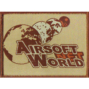 Airsoft World™ Morale Patch - Desert Iron-on cloth
