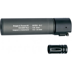 B&T ROTEX III Compact quick detach suppressor - Grey 160mm