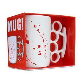 MUG! Knuckle-duster man-mug - Blood Spatter