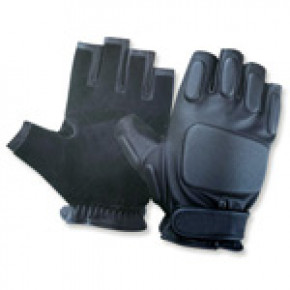 CoverT Leather Fingerless Gloves - Padded Knuckles