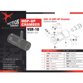 Action Army VSR Rifle CNC Hop Unit Replacement Hop Adjust Screw & Nut Assembly (Part# B01-013-8 + B01-013-10 + B01-013-13)