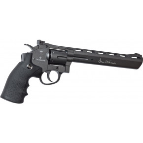 "ASG Dan Wesson CO2 Airsoft Revolver - 8"" Barrel - Steel Grey & Low Power"