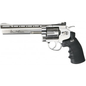 "ASG Dan Wesson CO2 Airsoft Revolver - 6"" Barrel - Chrome 'Stainless' & Low Power"