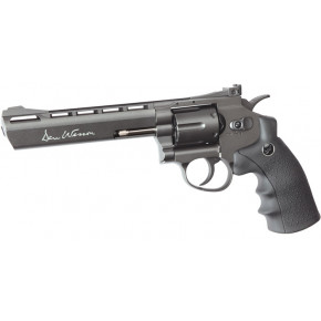 "ASG Dan Wesson CO2 Airsoft Revolver - 6"" Barrel - Steel Grey"