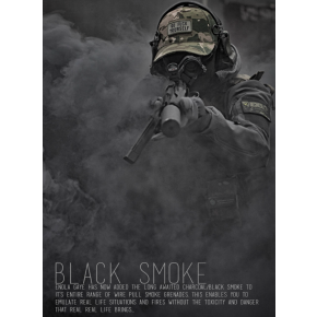 NEW Enola Gaye Ring-Pull Coloured Smoke grenade - BLACK