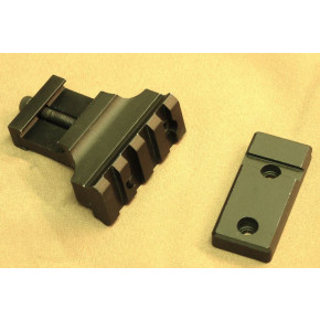 Offset Rail adapter for flashlight or laser