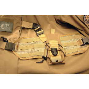 SAG GEAR MOLLE leg panel - Coyote Brown - Left Hand