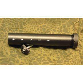 Battery stock tube for M4 rifles