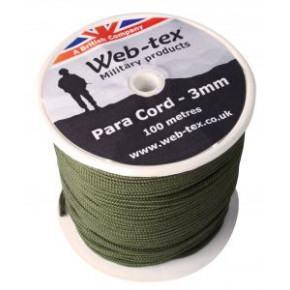 Web-tex Para Cord 100m Reel