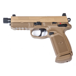 Cybergun FNX-45 Tactical GBB Airsoft Pistol with Full Trades! - Desert