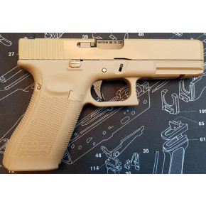 WE Glck G17 Gen.5 Tactical GBB Airsoft Pistol - Tan