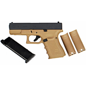 WE Glck G19 Gen.4 Tactical GBB Airsoft Pistol Tan Frame