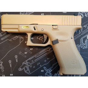 WE Glck G19X Gen.5 Tactical GBB Airsoft Pistol - Tan
