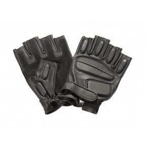 CoverT Leather Fingerless Gloves - Knuckle Protection