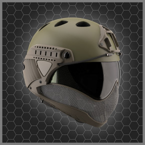 Warq Plain Colour Helmet - Kit