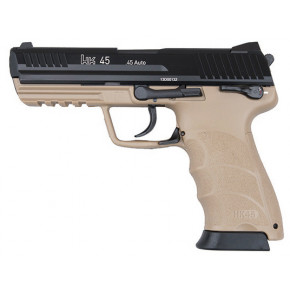 Umarex Branded KWA HK45 Auto FDE NS2 Airsoft Pistol with Full Trades
