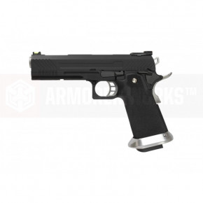 Armorer Works Custom Hi-Capa HX1102 Airsoft Pistol - Black Slide with Black Frame