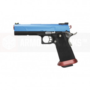 Armorer Works Custom Hi Capa HX1105 GBB Airsoft Pistol - Blue Slide
