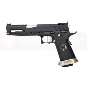 Armorer Works Custom Hi-Capa Dragon HX2202 'Race Pistol' Airsoft Pistol - Black Slide