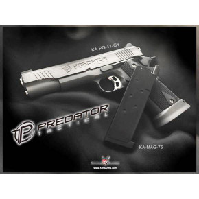 King Arms 1911 20rnd Predator Shrike magazine - Black - TM compatible