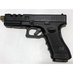NEW! POSEIDON B&W H17 BG [Black Gold] / G17 Custom CNC metal RMR slide GBB Airsoft pistol
