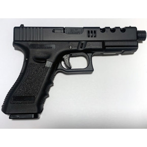 NEW! POSEIDON B&W H17 BB [Black Black] / G17 Custom CNC metal RMR slide GBB Airsoft pistol