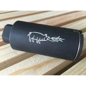 NOV Pig KX3 styled Flash hider - Black (14mm CCW)