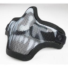 Black Mesh Face Shield / Mask with Vampire Skull Print