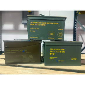 Ex MOD Steel Ammo Box