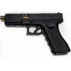 NEW! POSEIDON B&W W17 BG [Black Gold] / G17 Custom CNC metal RMR slide GBB Airsoft pistol