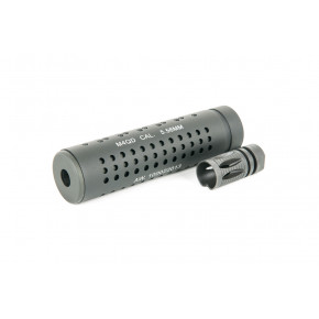 iSoft M4 QD KAC Silencer / Suppressor with steel Flash hider 14mm CCW