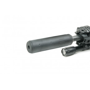 iSoft Long 148mm M4 Silencer with 14mm CCW Steel Flash hider