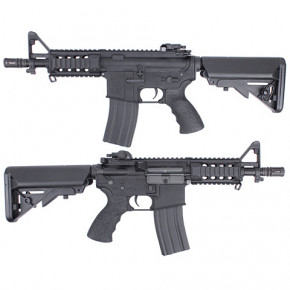 King Arms M4 Tanker Rifle Ultra Grade - Black -  Airsoft AEG