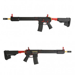 King Arms Black Rain Ordnance Rifle - Red/Gold -  Airsoft AEG