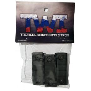 TWI Keymod Additional Rail Piece for VS-24/VS-25 (3 Pack) - Black