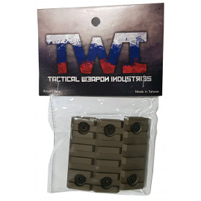 TWI Keymod Additional Rail Piece for VS-24/VS-25 (3 Pack) - TAN