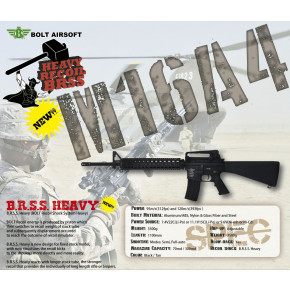 Bolt B4 M16A4 Full Railed - EBB Airsoft Rifle