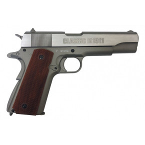 Milbro Tactical Division branded KWC Classic 1911 Series BlowBack Airsoft Pistol - Silver
