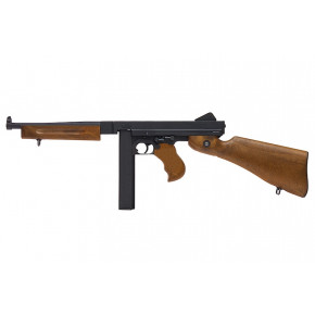 Cybrgun branded WE M1A1 Thompson Full Metal with Faux Wood GBB (Gas Blow-Back) Airsoft Rifle