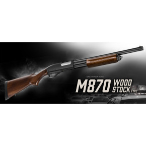 Tokyo Marui M870 Wood-Effect Airsoft Gas Multi-shot Shotgun