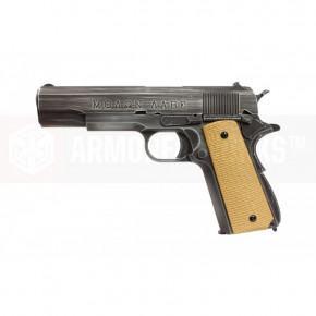 Armorer Works NE2001 Molon Labe 1911 Airsoft Pistol - Tan Grips