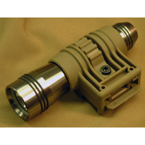 TD-style Flashlight mount for 20mm RIS - Dark Earth