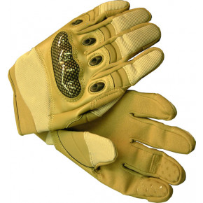Tactical PMC gloves with reinforced knuckles - Desert Extra Large