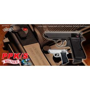 Maruzen Walther PPK/S '007' GBB Airsoft Pistol - Black
