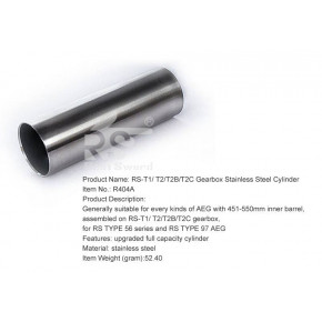 Real Sword Stainless Cylinder for Type 56 Series T2 / T2B / T2C and Type 97 Series T1 Gearboxes