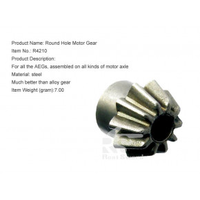 Real Sword Pinion Gear for 'O' Type Motor Shafts