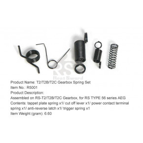 Real Sword Gearbox Spring Set For Type 56 Series T2 / T2B / T2C Gearboxes