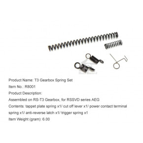 Real Sword Gearbox Spring Set For SVD T3 Gearboxes