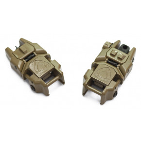 Rhino Nylon flip-up sight set for 20mm RIS rail SAND